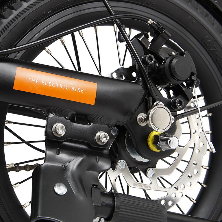 eBike disc brake on EMU mini folding bike