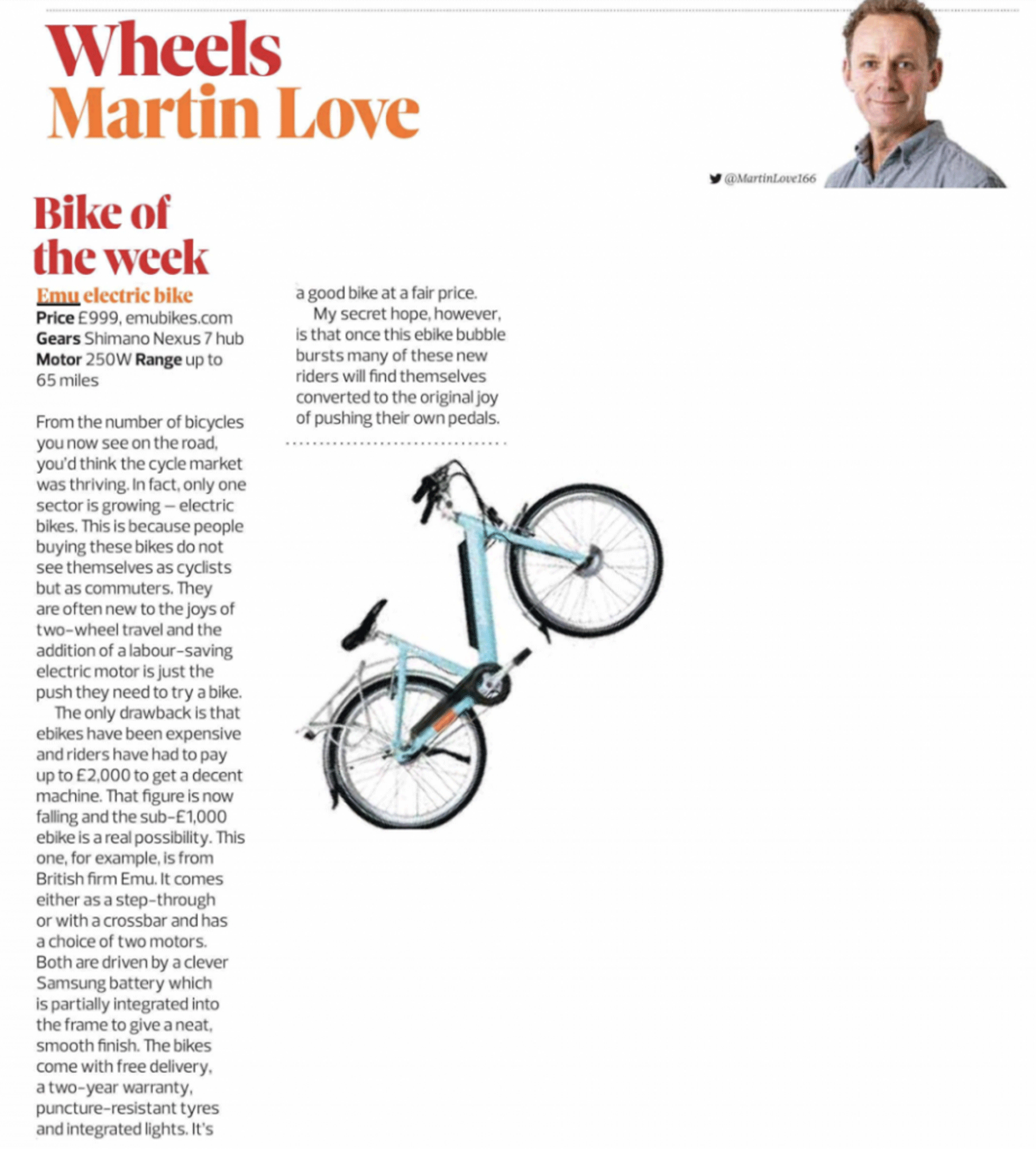 Observer Magazine ebike review